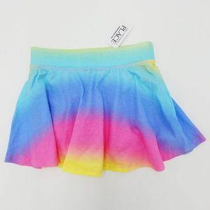 Place NWT Pastel Rainbow Dyed Knit Skirt Skort